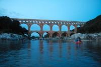 Canoë Nocturne au Pont du Gard