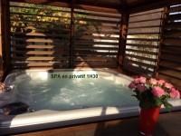 Espace Détente en privatif incluant Jacuzzi & Sauna