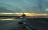 Mascaret en baie du Mont Saint-Michel