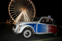 Balade et champagne en 2CV by night